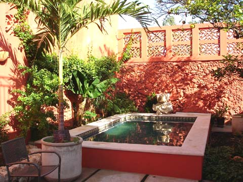 [Casa Guadalupe courtyard]